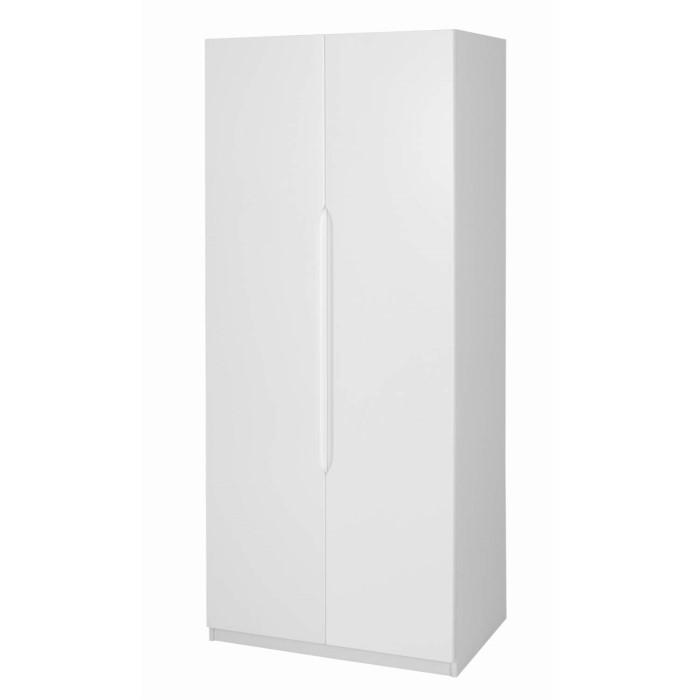 one call furniture alpine 2 door wardrobe in white high