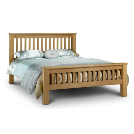 Julian Bowen Amsterdam Oak Super King Bed Frame