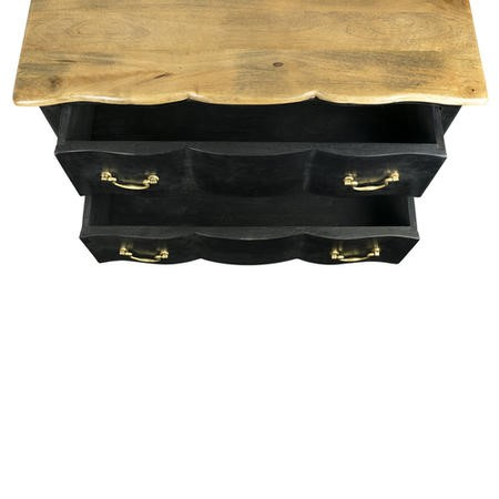 GRADE A1 - Angelique Matt Black French Style Chest of Drawers
