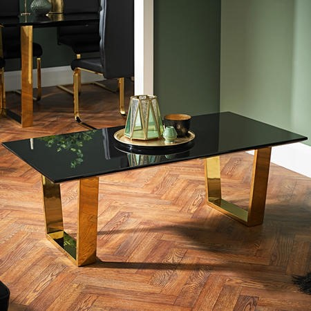 LPD Antibes Coffee Table Black and Gold