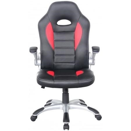 Talladega Racing Office Chair in Black and Red Faux Leather