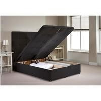 Appleton Ottoman Double Bed Frame in Charcoal Chenille Fabric