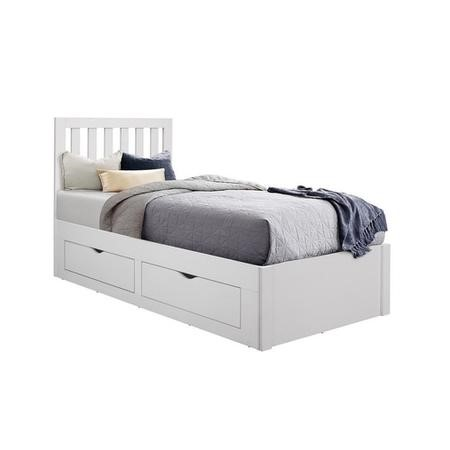 Aappleby Single Storage Bed in White