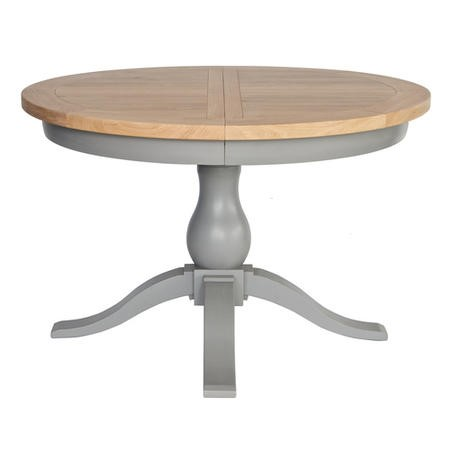 Genoa Grey Farmhouse Extendable Round Dining Table - Willis and Gambier Range