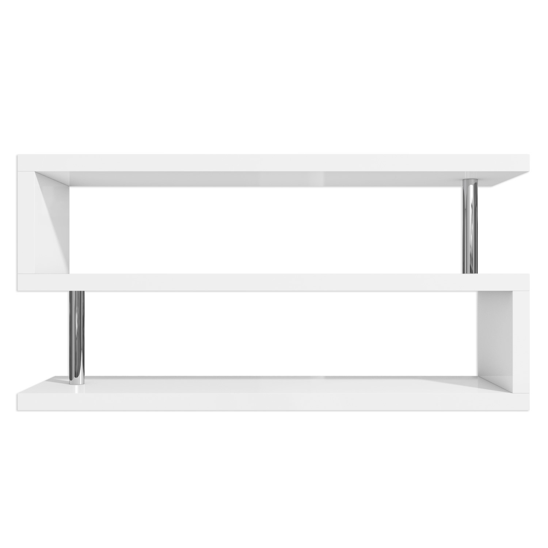 Artemis Large White High Gloss Geometric Tv Stand