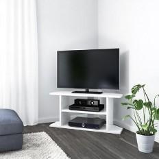 4bd7a483cc4 Artemis Small White High Gloss Corner TV Stand