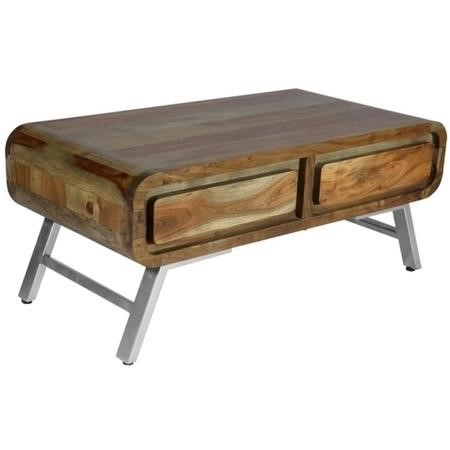Aspen Retro Two Tone 2 Drawer Coffee Table