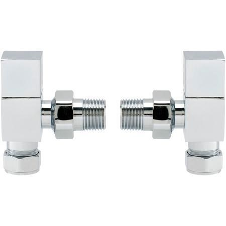 Pair of Angle Square Head Radiator Valves