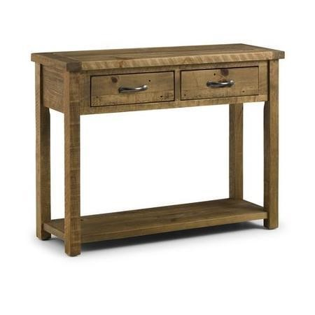Solid Wood Console Table with Storage Drawers - Julian Bowen Aspen Range