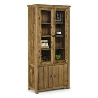Julian Bowen Aspen Glazed Display Cabinet with Cupboard