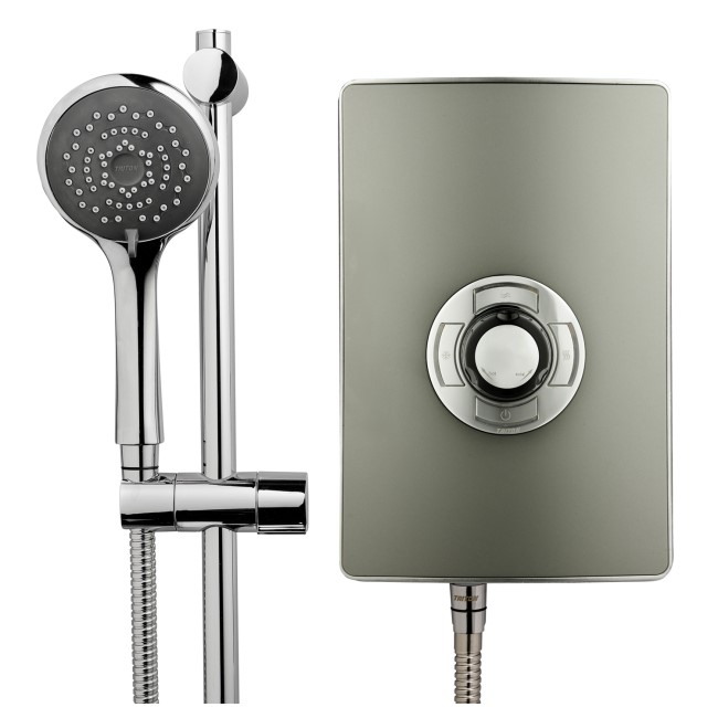 Triton Aspirante 8.5kw Electric Shower - Gun Metal