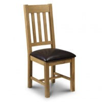 Julian Bowen Astoria  Dining Chair in Waxed Oak