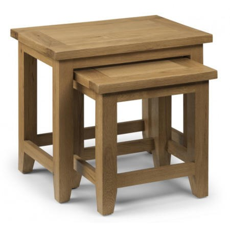 Julian Bowen Astoria Nest of 2 Tables in Waxed Oak