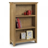 GRADE A3 - Julian Bowen Astoria Low Bookcase in Waxed Oak