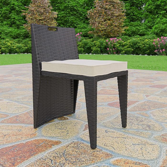 Astoria 3 Piece Garden Dining Set In Black Wicker Rattan