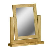 GRADE A2 - Atlantic Solid Light Oak Dressing Table Mirror