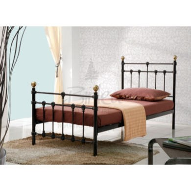 Birlea Furniture Atlas Metal Single Bed in Black