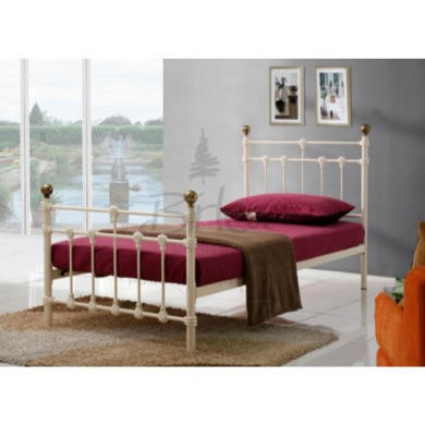 Birlea Furniture Atlas Metal Single Bed in Cream