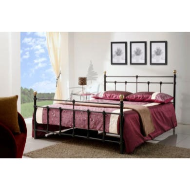 Birlea Furniture Atlas Metal Small Double Bed in Black