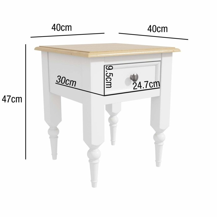 Small Country Side Table 1 Drawer Modern Sofa End Coffee