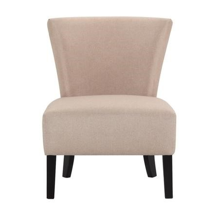 LPD Austen Sand Upholstered Chair with Black Legs
