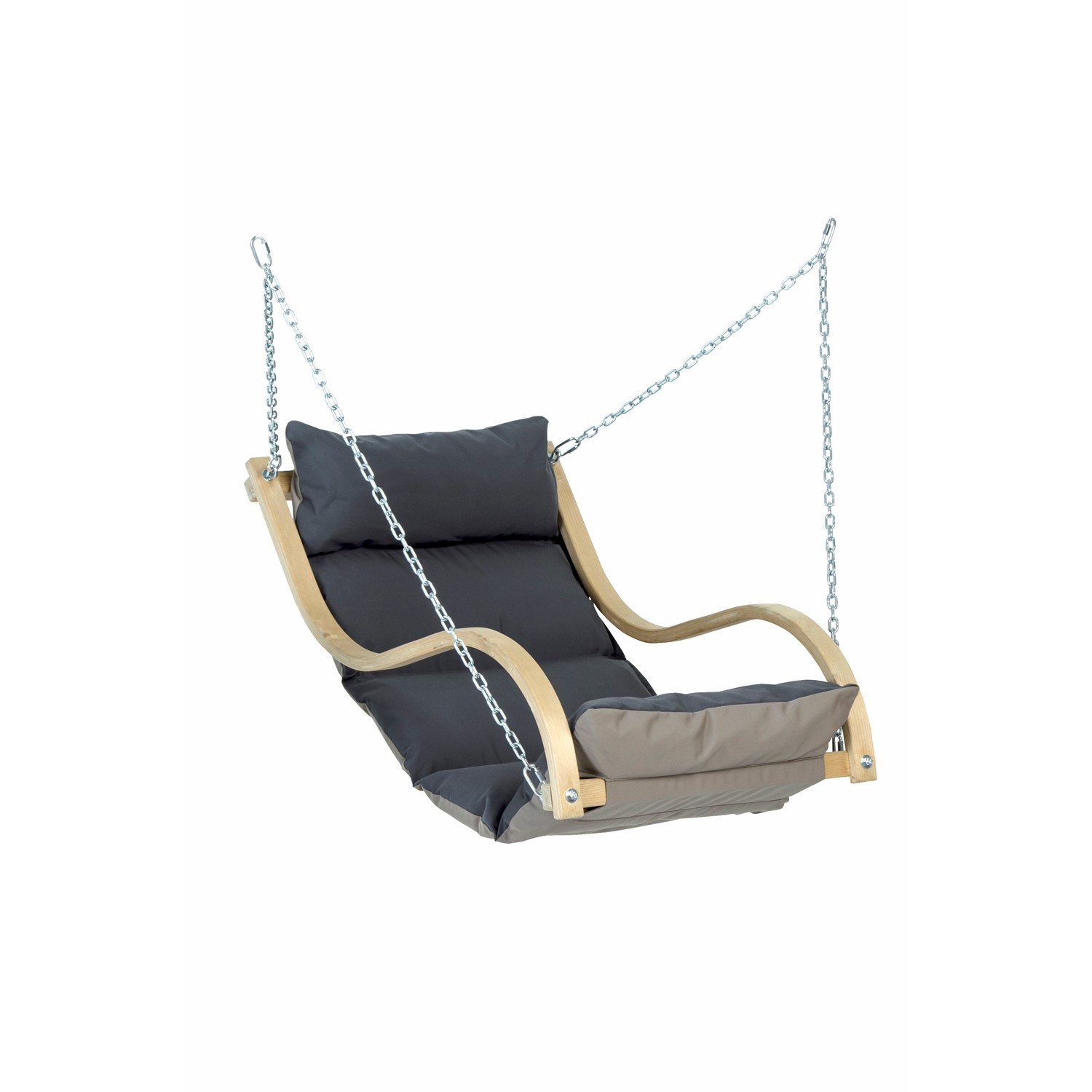 Fat Chair Wooden Garden Swing Chair With Anthracite Grey Cushion Chair Only
