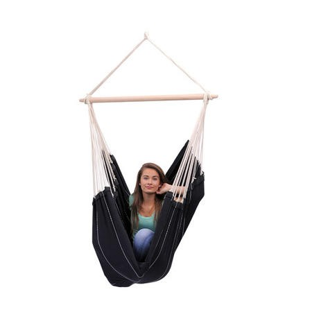 Black Garden Hammock -  Fabric Swing Chair