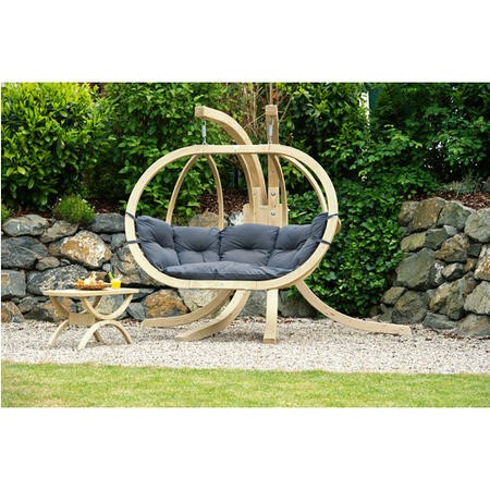 Globo Royal Outdoor Wooden Large Chair in Anthracite