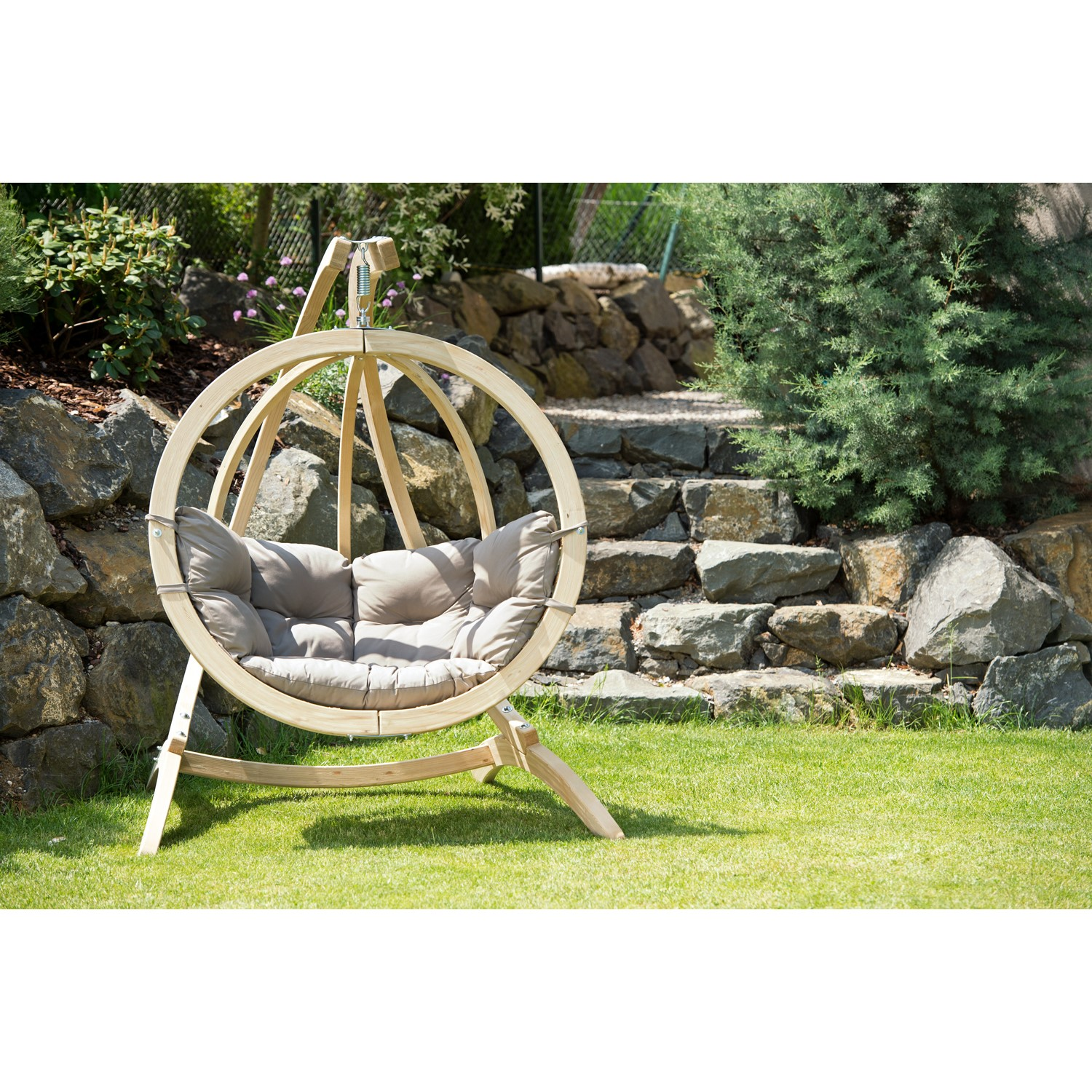 Globo Garden Swing Chair Stand, Outdoor Swing Chair With Stand Uk