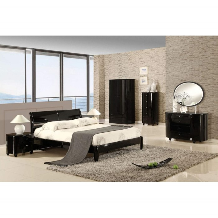 birlea furniture aztec kingsize bed in black high gloss furniture123