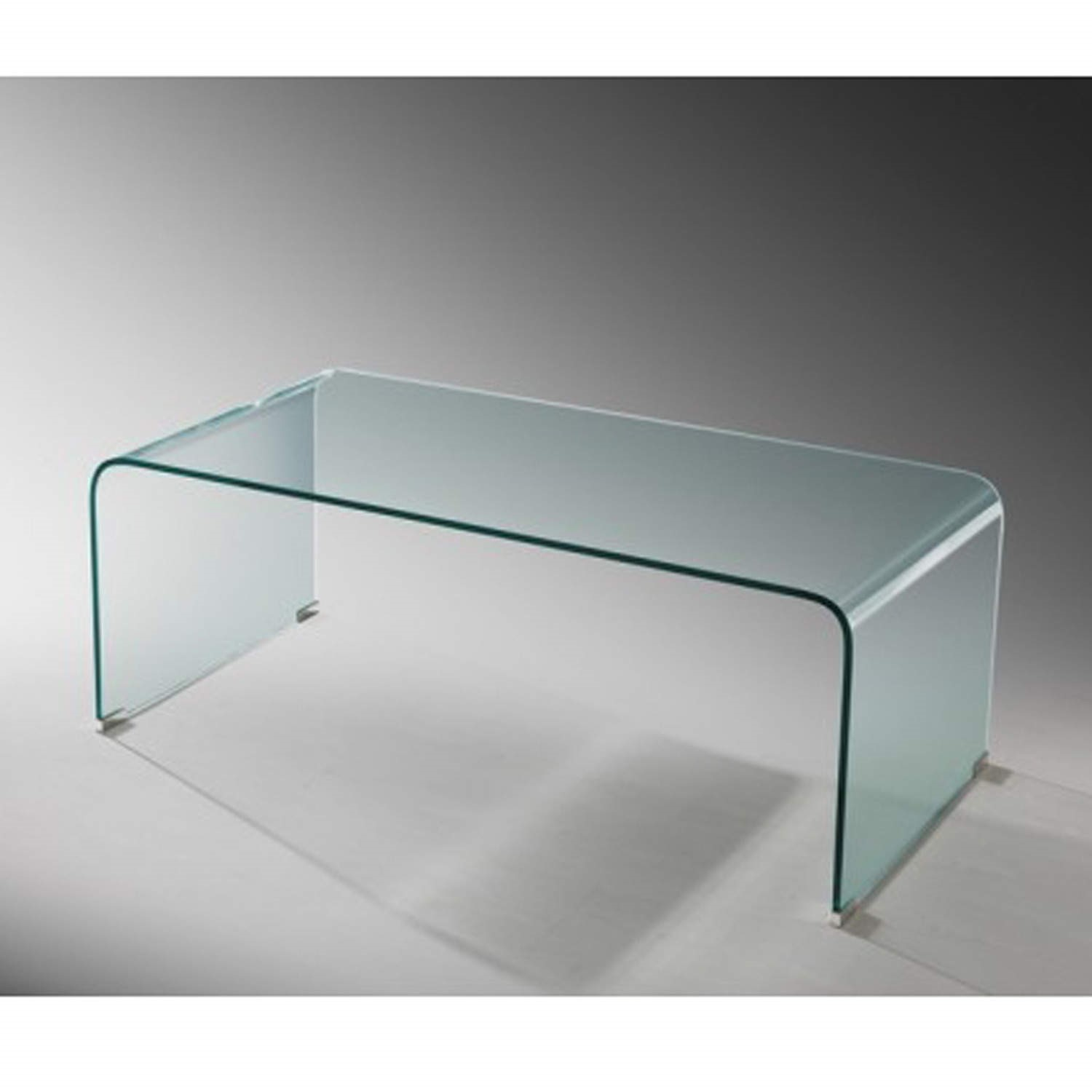 Curved Glass Coffee Table Lpd Azurro Furniture123