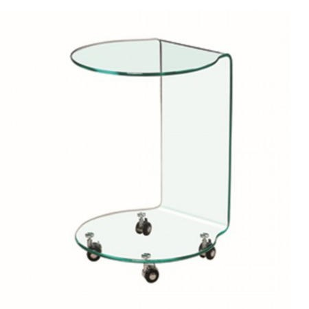 LPD Azurro Glass Lamp Table