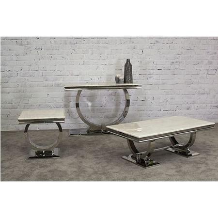Vida Living Arianna Cream Marble Lamp Table Furniture123