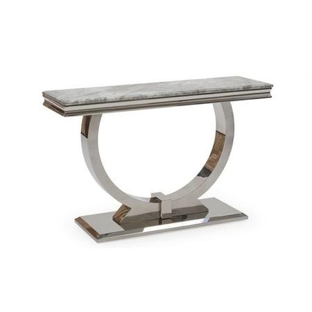 Arianna Marble Console Table in Grey - Vida Living