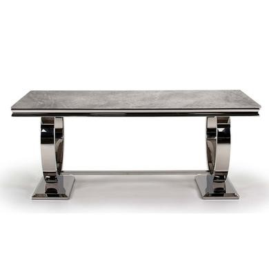 Arianna Grey Marble Dining Table 200cm - Vida Living - Seats 6