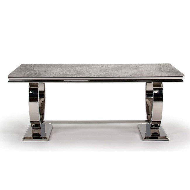 Arianna Grey Marble Dining Table 200cm - Vida Living - Seats 8