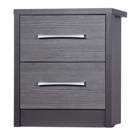 One Call Furniture Avola Premium 2 Drawer Bedside Chest In