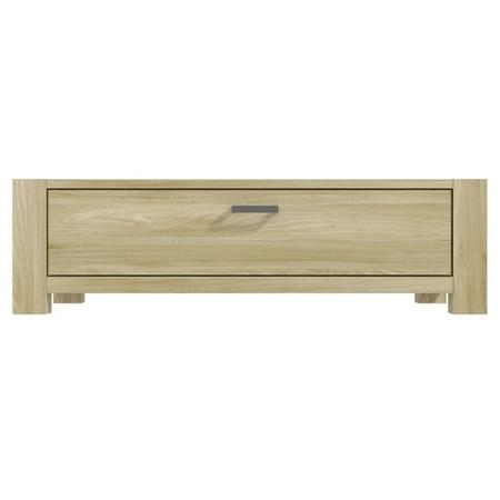Bailey Oak Coffee Table With Storage Drawer Furniture123
