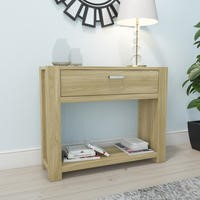 Bailey Oak Effect Console Table with 1 Drawer