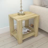 Bailey Oak Effect Lamp Table