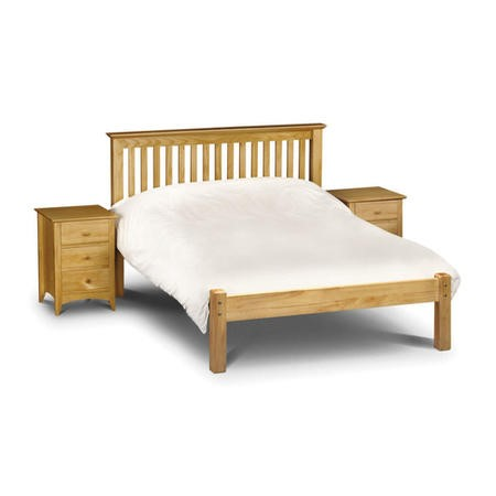 Julian Bowen Barcelona Double Pine Bed with Low Foot End