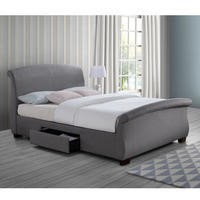 Birlea Barcelona 2 Drawer King Size Bed Grey