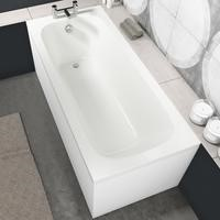 Sochi Round Style Single Ended Straight Standard Bath - 1500 x 700mm