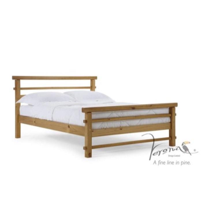 Verona Design Lecco Single Bed Frame in Antique Pine - Short ...