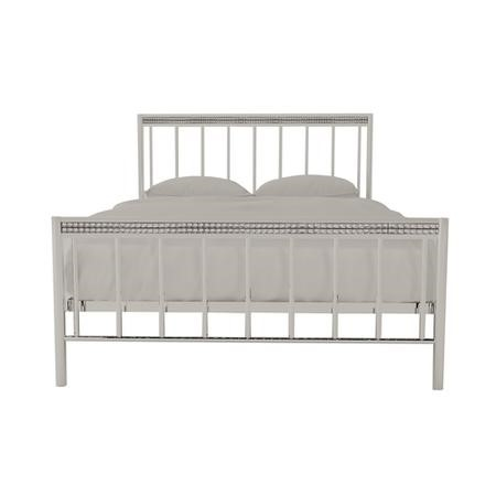 LPD Bellini Double Bed in Chrome with Diamante Trim
