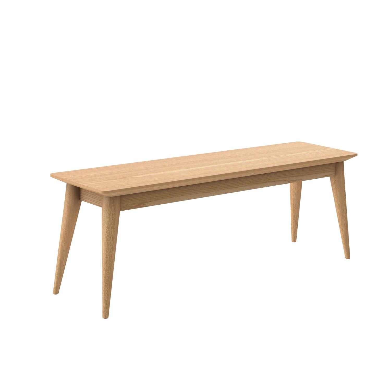 Solid Oak Dining Bench  Seats 2  Scandi  Briana