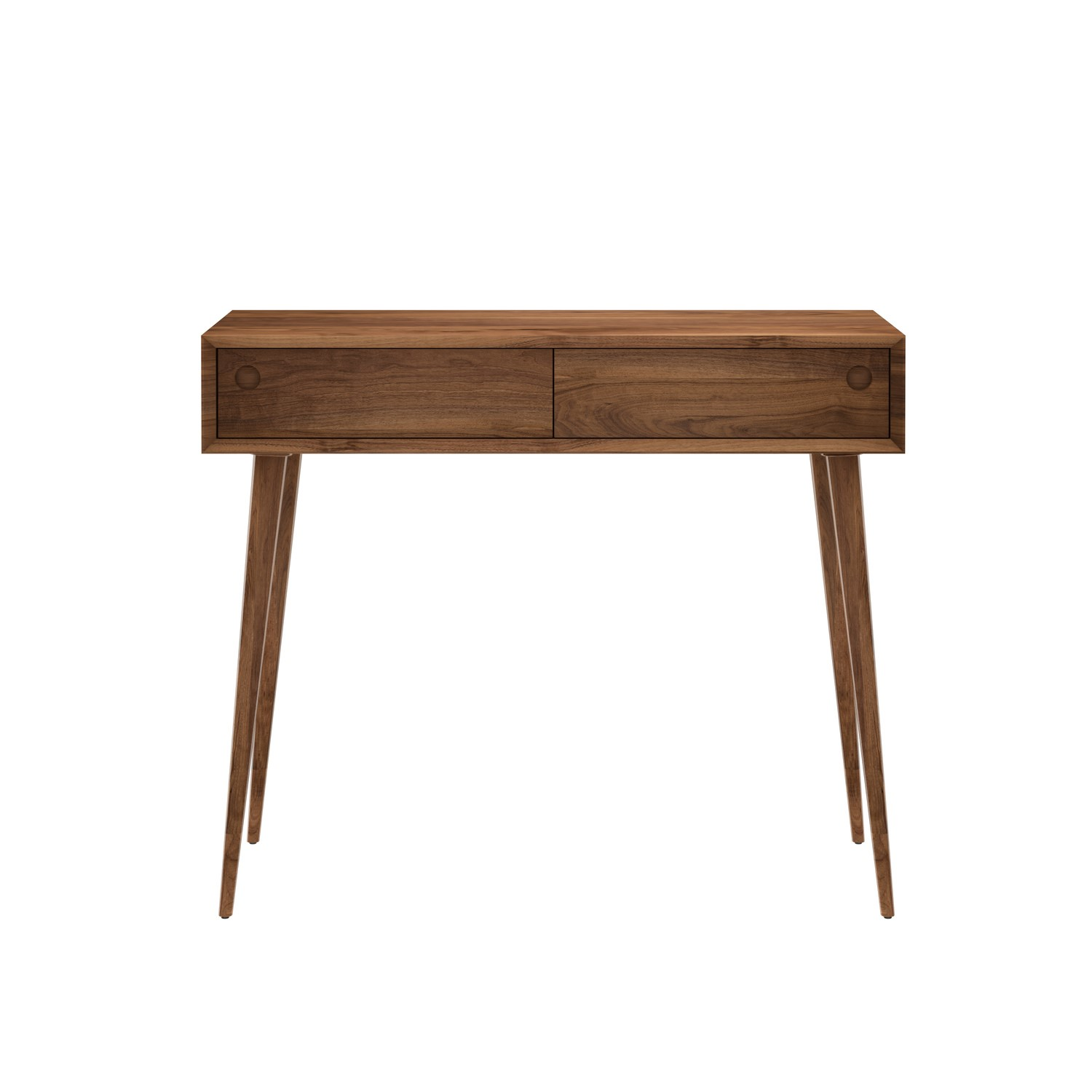 Walnut Office Desk With Drawers, Sofa Table Desk With Drawers