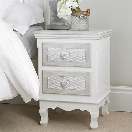LPD Brittany 2 Drawer Bedside Cabinet