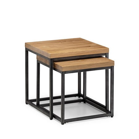 Julian Bowen Brooklyn Oak Nesting Lamp Tables