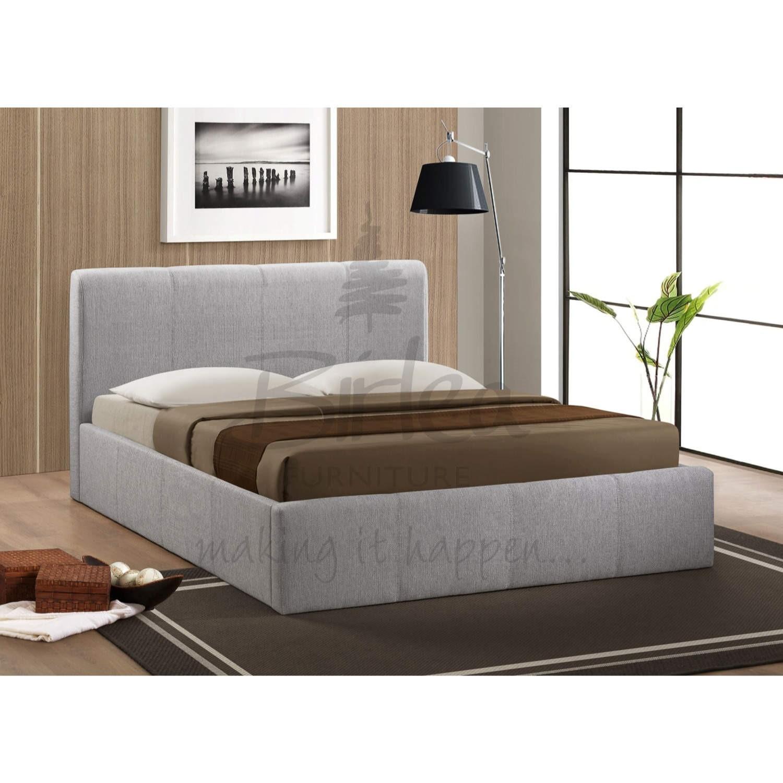 Awe Inspiring Birlea Furniture Brooklyn Fabric Small Double Ottoman Bed In Grey Bralicious Painted Fabric Chair Ideas Braliciousco